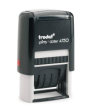 Trodat Self-Inking Date Stamp w/2 Color Blue/<font color=#ff0000>Red</font color> Pad